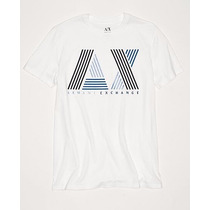 Playera Armani Exchange Ax Talla L Color Blanca