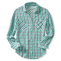 Camisa Manga Larga Aeropostal Dama Estilo 9737 Aqua