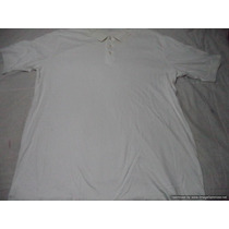 Polo Americano Marca Lands End Talla Xxl Color Blanco Rayas