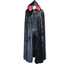 Capa Negra Con Capucha Medieval Eretica Dark Goth Steampunk