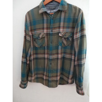 Mossimo Supply Co. Camisa Verde Talla M, Hipster , Franela