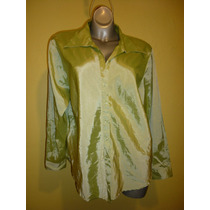 Blusa Marca Fashion Bug Stretch Verde Extra Grande 18 / 20