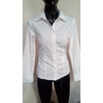 Blusa Camisa Blanca Talla 4p Ann Taylor