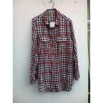 Camisa Dama Japna Original T-l Franela Nueva