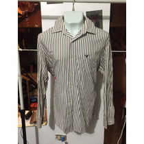 Camisa American Eagle Cafe Talla Xl Seminueva 3004 *