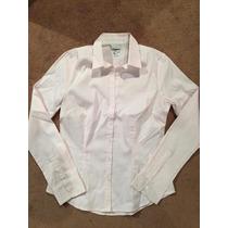 Camisa H&m Rosa Y Blanca De Oficina, Traje, Elegante Mujer
