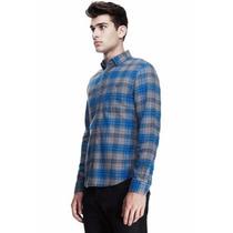 Camisa Ax Armani Exchange (bright Plaid) Talla M 100%origin