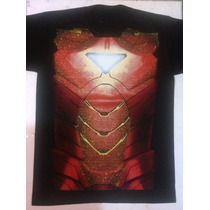 Playera Superhéroe , Iron Man, Disfraz Super Héroe