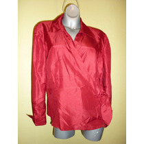 Elegante Blusa Jm Collection Rojo Quemado Extra Grande 18