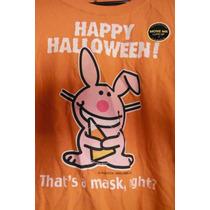 Camisa Blusa Jim Benton Its Happy Bunny Halloween Edition
