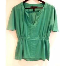 Hermosa Blusa Bcbg Seda Verde - Fashionella - S