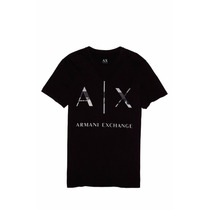 Playera Armani Exchange Ax Talla M Color Negra
