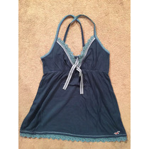 Blusa Hollister Talla L Color Azul