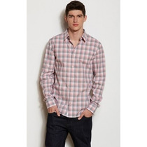 Camisa Ax Armani Exchange (oxford Multi Check) M 100% Origin