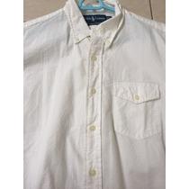 Camisa Vestir Ralph Lauren Hombre M Blanco Perla Nueva