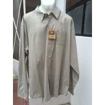 Camisa Casual Manga Larga Wrangler Tallas Extras 3xl 54/56
