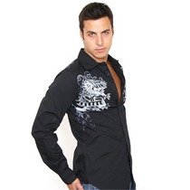 Camisa Black Fly Original Talla S Color Negro C Garigoleado