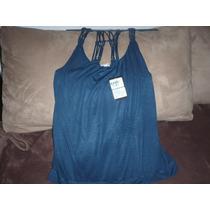Linda Blusa Para Dama Azul Tirantes Trenzados Talla L