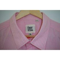 Camisa Sport De Caballero Paper Denim T- 2xl Color Rosa
