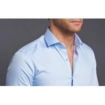 Camisa Traje Vittorio Forti Tallas Extras 3xl Cuello 20 Azul