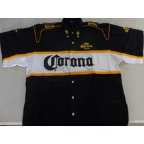 Camisa Manga Corta Xl Para Eventos Bordada Corona Extra