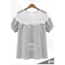 Eisuku Cv031305 Tierna Blusa Cuelo De Encaje Moda Japón $399