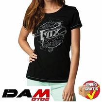 Blusa Fox Racing Thundering T-shirt Ladies Medium Black
