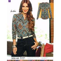 Blusa De Dama Multicolor 932-46