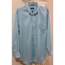 Camisa Izod Talla L Azul Celeste Hombre Caballero Juvenil.