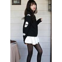 Suku 70113 Sudadera Estampado En Mangas Moda Japón $399