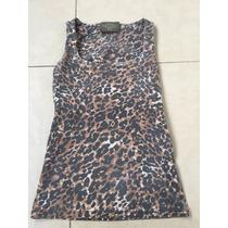 Blusa Básica Zara Animal Print Leopardo S