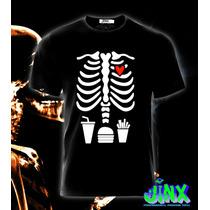 Playeras O Camiseta Huesos Halloween Papas 100% Jinx!!