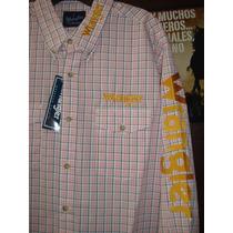 Camisa Wrangler Hombre 51logss52 Vestir Casual Vaquera