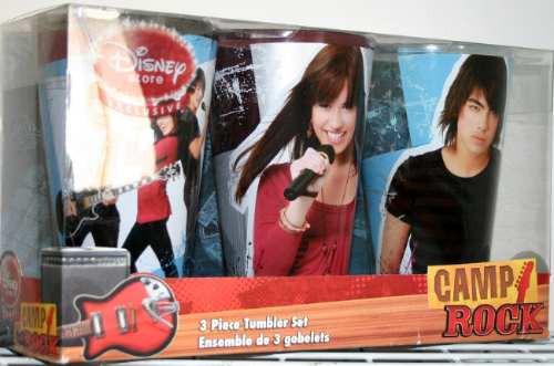 Camp Rock Set De 3 Vasos Grandes Envio Gratis
