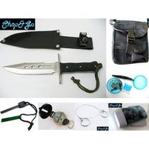 Envio Gratis Kit Supervivencia V1 Cuchillo Pedernal Etc 22pz