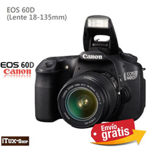 Camara Canon Eso 60d Lente 18 135mm 18mp - Envio Gratis -