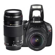 Canon® Rebel Eos T3 Kit Lentes 18-55 + 75-300mm Video Hd