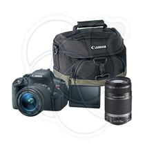 Canon Eos Rebel T5i Con Lentes 18-55mm Y 55-250mm Y Estuche
