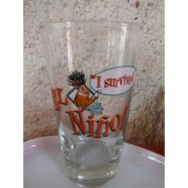 Vaso Cerveza I Survived El Niño Acapulco Restaurant Beer Bar