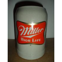 Tarro Cerveza Miller High Life Beer Cantina Bar Souvenir