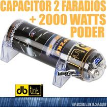 Capacitor 2 Faradios + 2000 Watts Voltimetro Azul Db Lcap2kf