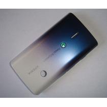 Tapa Negra Del Sony Ericsson X8 Blanca Y Azul