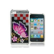 Funda Iphone 4s / 4 Cristal 3d Pedrería Mariposa