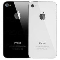 Tapa Carcasa Cristal Trasero Iphone 4s Original Blanca Negra