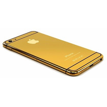 Carcasa Tapa Trasera Gold Edition Iphone 6 Blanco O Negro