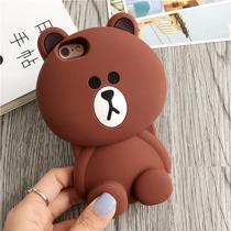 Bumper Case 3d Iphone 6 6s Y Plus Oso Osito Line Caricatura