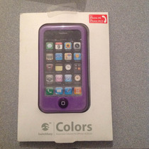 Case Iphone 3 Morado Plastico Suitcheasy Colors