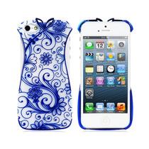 Funda Iphone 5 / 5s En Forma De Vestido Azul De Plástico