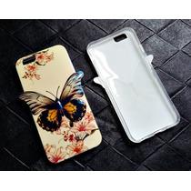 Carcasa Funda Case Para Iphone 6 Y 6s Mariposa Tornasol 3d