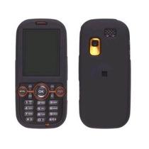 Negro Recubierto De Goma Suave Snap-on Funda Para Samsung T4